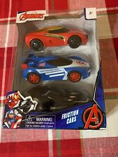 Set of 3 Marvel Avengers Friction Cars Captain American Iron Man Black Panther