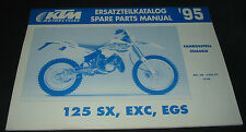 Ersatzteilkatalog KTM 125 SX / EXC / EGS Fahrgestell Spare Parts Manual 10/1994!