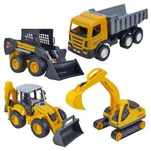 Kids Real Looking Yellow Plastic Toy Tractor Indoor Outdoor Summer Beach Play