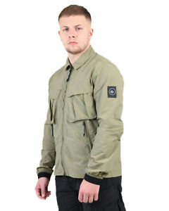 Marshall Artist MA Polyamide Overshirt in Faded Khaki BNWT, RRP £85