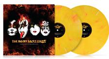 KISS 'THE MANY FACES OF KISS' 2 X YELLOW SPLATTER VINYL LP LTD/1500 IN STOCK