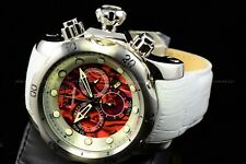 "Invicta 54mm Reserve VENOM Chrono ""White Morning Glory"" Swiss Red Abalone Watch"