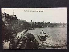 RP Vintage Postcard - London #T23 - Thames Embankment - Auto-Photo Series