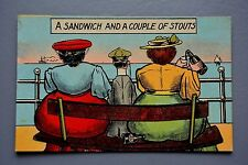 R&L Postcard: Comic, CPC Squashed Man Between Large Women Beer Stout