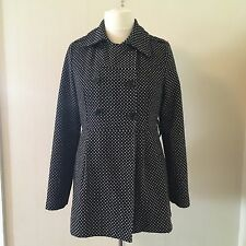 Miss Posh 3/4 Length black Coat Very Smart with shapes all over. Size 12/14