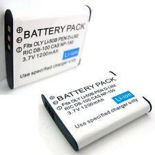 2x Battery Pack for OLYMPUS LI-50CAA LI-50CBA UC-50C mju-1010 mju-1020 mju-1030