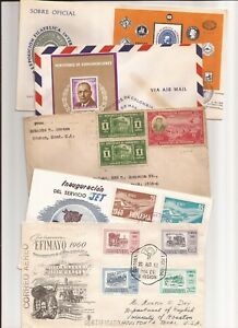 LATIN/CENTRAL AMERICA- 44  FDCs, 1960s-90s (mostly 70s,80s)