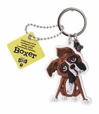Boxer Marron Fauve 3D Porte-clés Sac Charm Tag Dog Lovers Cadeau Stocking Filler