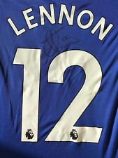 AARON LENNON HAND SIGNED EVERTON SHIRT 2017/18 PROOF 1.
