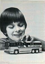 1977 ADVERT 3 PG Buddy L Greyhound Bus Goodyear Blimp Nylint Race Teams Trucks