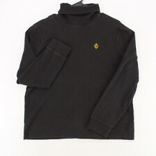 LAUREN RALPH LAUREN Vtg Black Long Sleeve Turtleneck Pullover Sweater Youth XL