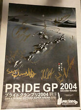 PRIDE FC GP 2004 Second Round CARD SIGNED footprints poster B2 UFC MMA autograph