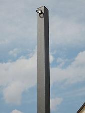 Sonnensegelmast Sonnensegelpfosten  2 Ösen 3m 50x50mm Anthrazit beschichtet