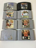 Nintendo 64 Game Lot of 8 Different N64 UNTESTED See Pics for Titles