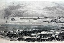 Azores Western Islands 1873 PONTA DELGADA St. Michaels Matted Antique Engraving