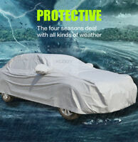 Universal Full Car Cover Waterproof UV Sun Snow Dust Scratch Rain Resistant