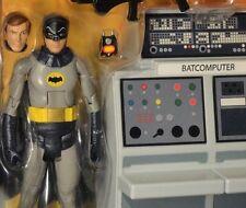 """DC BATMAN 1966 CLASSIC TV SERIES BATMAN and BATCAVE 6"""" MATTEL S3 Universe 60's"""