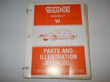 1990 1991 Chevrolet Lumina W Body Parts And Illustration Catalog May 1991