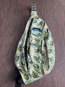 KAVU Kiwi Rope Sling Bag Crossbody Shoulder Backpack Colorful Travel Green Women