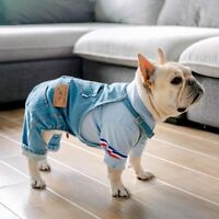 French Bulldog Clothes for Dog Clothes Denim Dog Jumpsuit Pet Clothing for Dogs