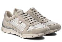 GEOX SUKIE D52F2A scarpe donna sneakers pelle camoscio tessuto casual zeppa