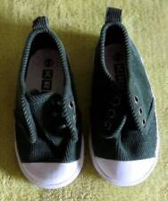 NEW Green Corduroy SHOES Toddler Boy's Sz 6 Athletic Fall Tennis NO LACES Includ