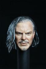 "1/6 Whiplash Head Sculpt Mickey Iron Man For 12"" Hot Toys Phicen Male Figure"