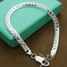 20cm placcato argento foglia CATENINA SENZA PIETRE BRACCIALE & sacchetto regalo,