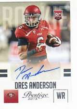 2015 Panini Prestige Rookie Signatures AUTO RC #234 Dres Anderson 49ers