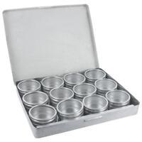 Boite de présentation métal 12 cases alu rangement petites pièces- Metal boxes