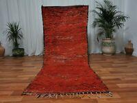 "Vintage Morocco Handmade wool rug 3'3""x8"" Bohemian Berber tribal runner carpet"