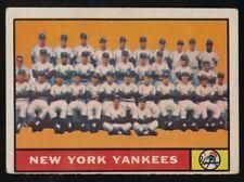 1961 TOPPS  NEW YORK YANKEES TEAM CARD  VG/ VG-EX  NEW YORK YANKEES  #228