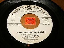 CARL HELM - RING AROUND MY ROSIE - SWEET LOVIN  / LISTEN - TEEN POPCORN