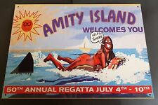 Jaws themed Amity Welcomes you metal sign - Shark, Quint, Orca, Movie