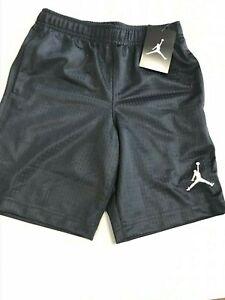 Nike Boys Jumpman Air Jordan Mesh Athletic Shorts, Sizes 3T-7 - Black / Grey-New