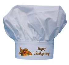 Happy Thanksgiving Chef Hat Toques For Holiday Cooking by CoolChefHats