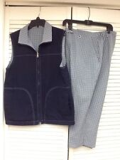 Authentic TRAVEL WEAR, 2 Pc. Capri & Reversible Vest Outfit, Sz. 12Petite, GUC!