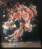 ALLAN HOUSTON SIGNED 8X10 PHOTO NY KNICKS NYK W/COA+PROOF RARE WOW
