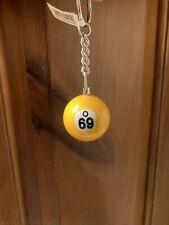 O 69 Ball Billiard Pool Ball Key Chain