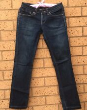 Pepe Jeans London Womens Sz 26 Slinky Straight Dark Blue 5 Pocket Button Zip Fly
