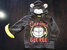 Curious George Halloween Costume Zip Up Hooded Sweatshirt With Banana 3T
