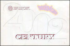 2002 BUICK CENTURY OWNERS MANUAL HANDBOOK GUIDE BOOK MAINTENANCE HOW TO DRIVE 02