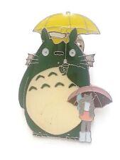My Neighbor Totoro Holding Yellow Umbrella Metal Pin Badge ~Brand New~#5