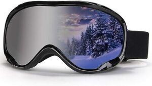 Outdoor Ski Goggles,OTG Snowboard Goggles Anti Fog Snow Sport Goggles 100% UV400