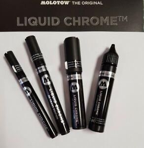 Molotow Liquid Chrome Marker 1 2 4 5 mm / refill Nachfüller NEU!