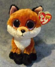 Ty Beanie Boos Regular Slick The Brown Fox 15cm Bday May 1