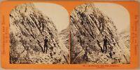 The Bad Non Près Chamonix Alpinismo Francia Foto Lamy Stereo Albumina Ca 1865
