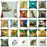 Cute Animal Friends Cotton Linen Pillowcase Sofa Cushion Cover Home Decor 18inch