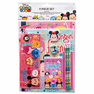 Disney Tsum Tsum 11pcs School Stationery Value Pack Gift Set Pencil Pouch Eraser
