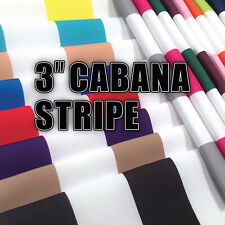 """3"""" Cabana Stripe Prints! Home Decor Fabric Polyester 62"""" W Sold by the Yard"""
